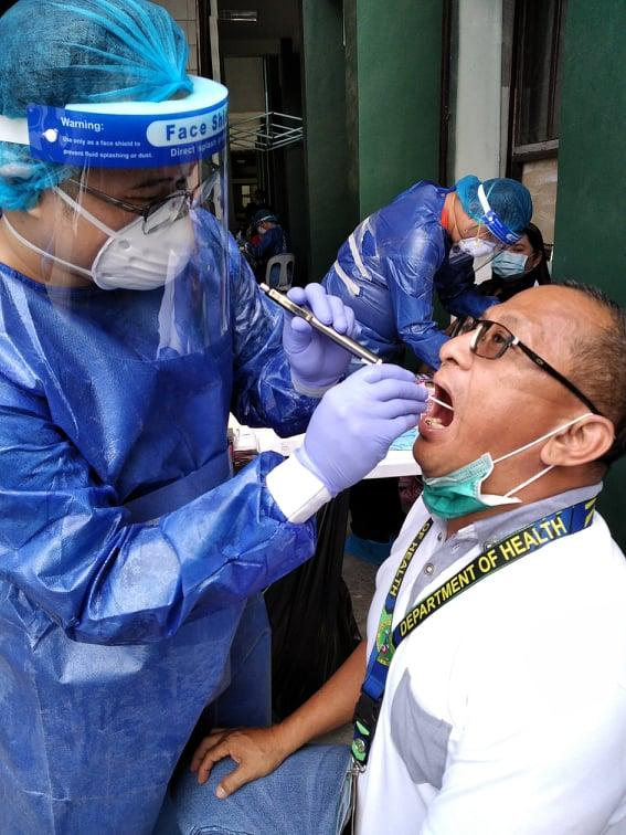 DOH-Calabarzon employees undergo swab tests for COVID-19