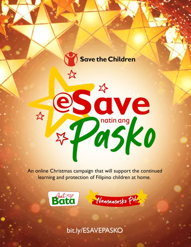 Support children's learning needs thru 'eSave Natin ang Pasko' fundraising campaign