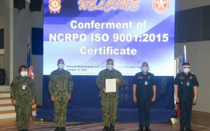 NCRPO gets ISO certification for 2 processes