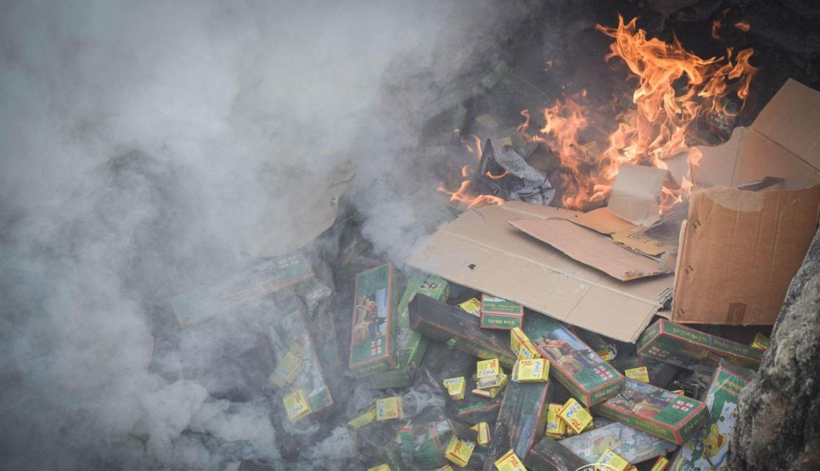 BOC-Davao torch confiscated firecrackers