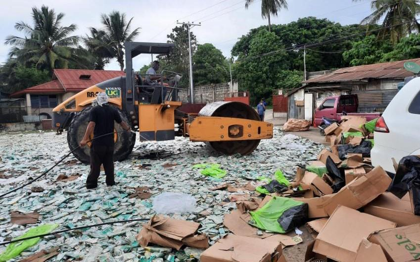 BOC-Port of CDO destroys P50M worth of cigarettes declared as furnitures, dispo cups