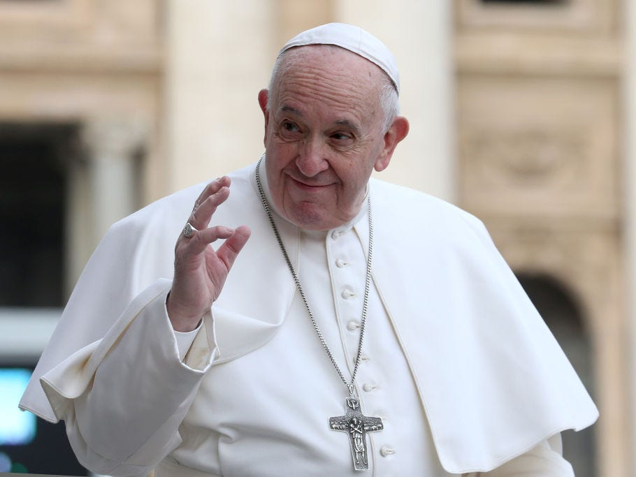 Pope Francis offers prayers for typhoon victims