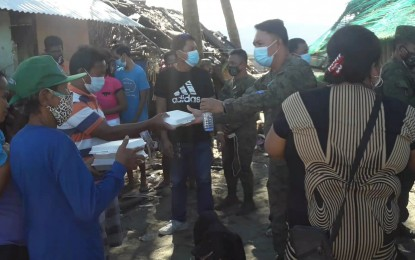 Army's 91st IB donates food packs to Aurora typhoon victims