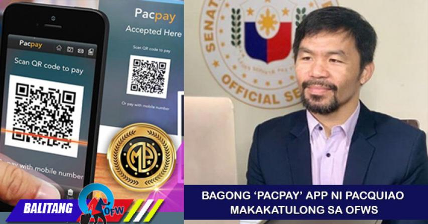 Pacquiao to roll out payment platform 'PacPay' for OFWs next year