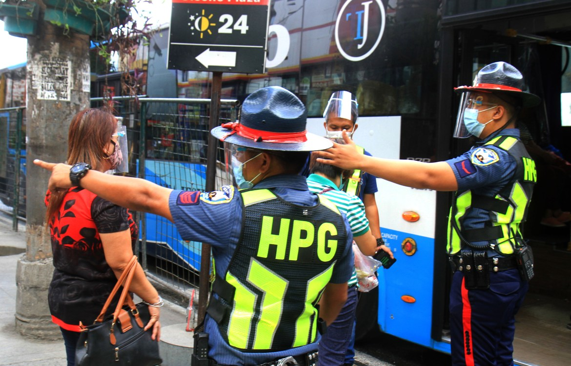 Highway Patrol Group (HPG) conducts random inspection on passenger buses