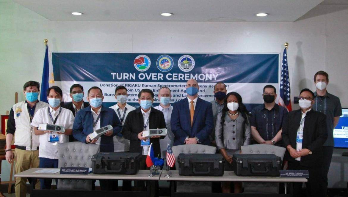 BOC receives narcotics identification devices from US DEA