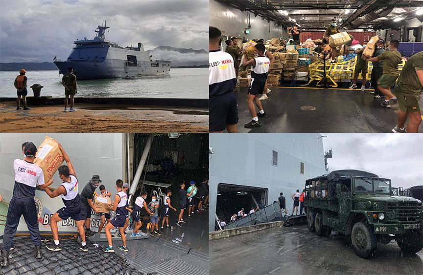 PN ship carrying 138 tons of relief goods finally arrives in Cagayan