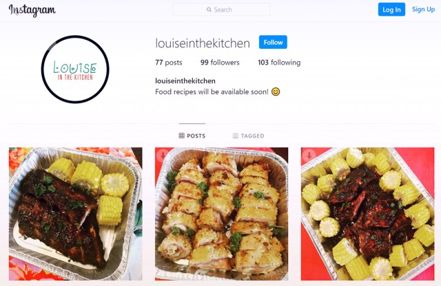 Home-based Food Business Insights | Louise in the Kitchen's Instagram account