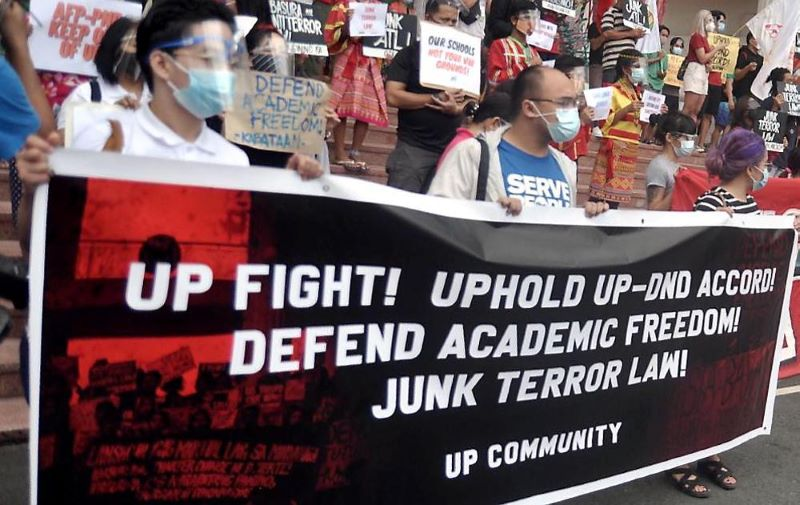 UP students hold protest vs abrogation of DND-UP accord