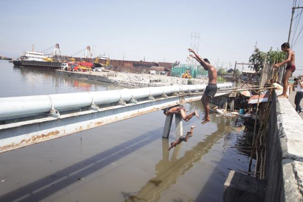 Risky plunge into murky, unsafe waters