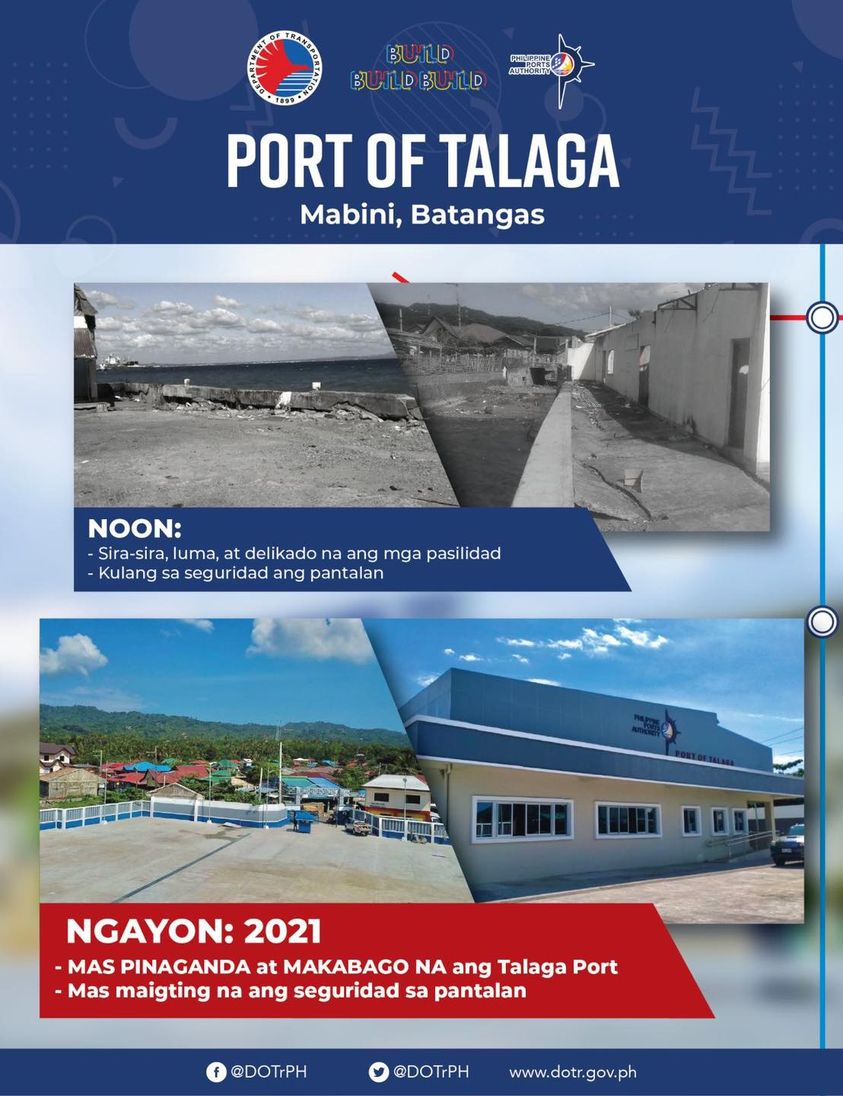 DOTr announces completion of rehab works on Talaga Seaport in Mabini, Batangas