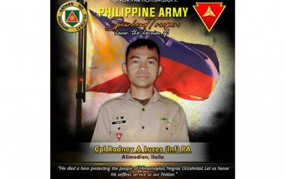 Army pays tribute to soldier slain in NegOcc clash