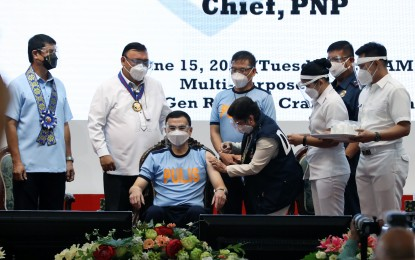 Eleazar gets 1st jab as PNP rolls out vaccination