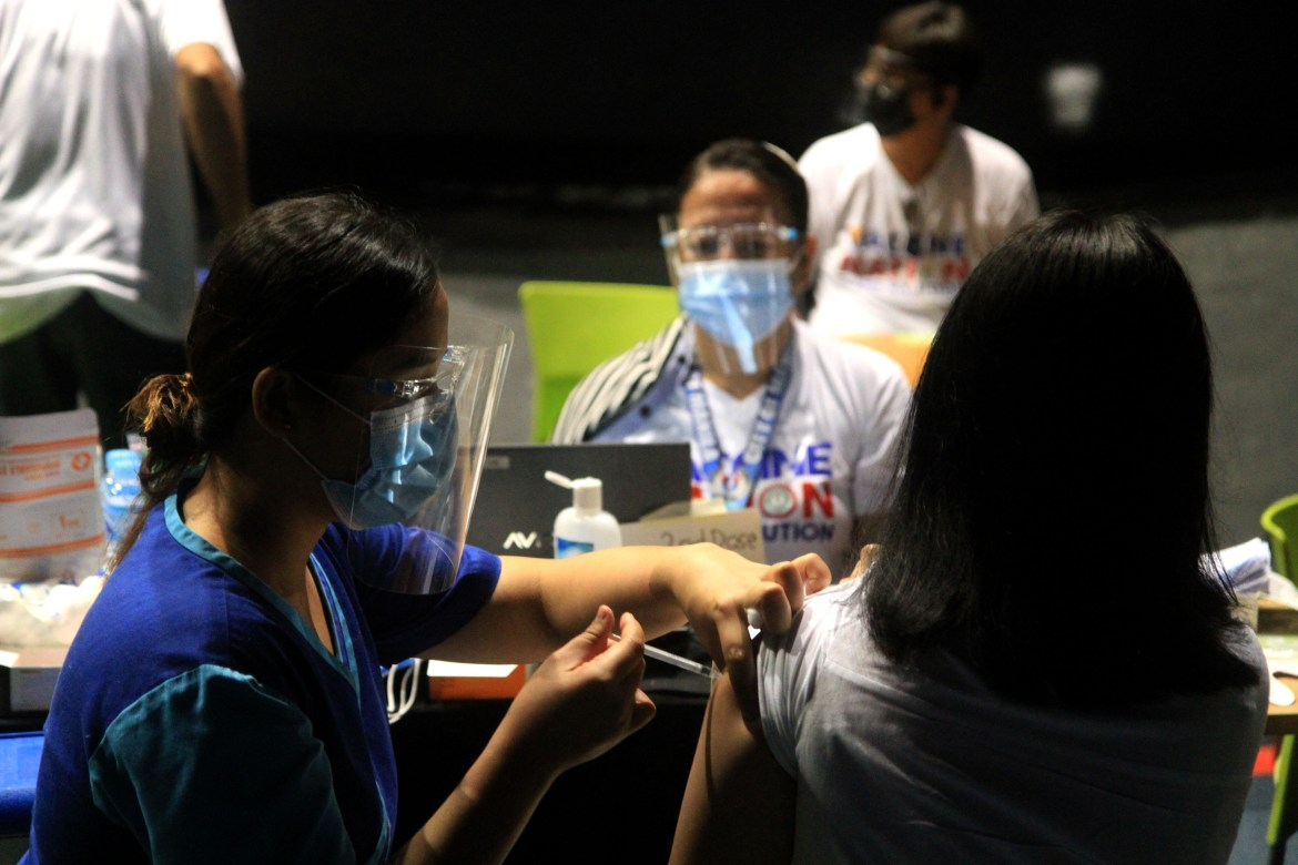 Vaccination get going anew in Makati