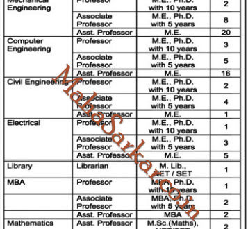 Brahma Valley Collage Nashik Faculty Recruitment 2018