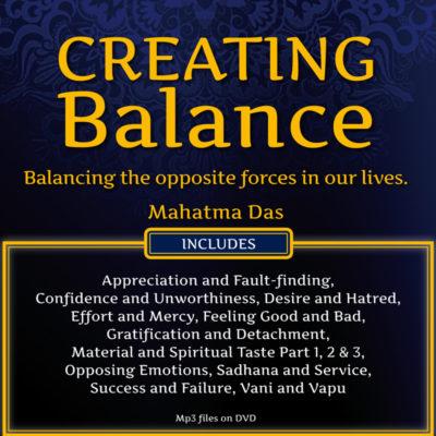 Creating Balance Mahatma Das