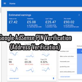 Google AdSense PIN Verification