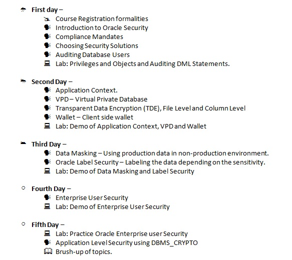 Oracle-11g-Security-CourseContent