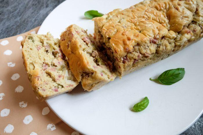 Cake salé olives vertes jambon chèvre parmesan Ma Healthy Tendendy
