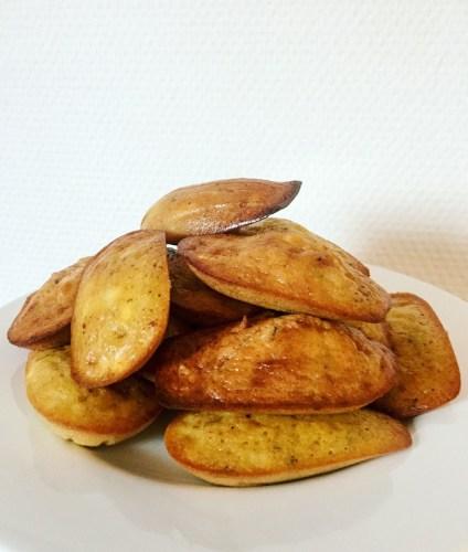 Madeleines salées sans gluten chèvre thym - recette