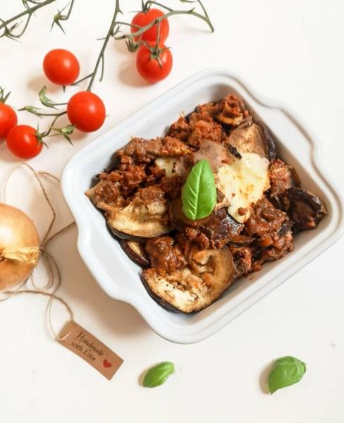 Lasagnes d'aubergine Boeuf à la provençale Ma Healthy Tendency