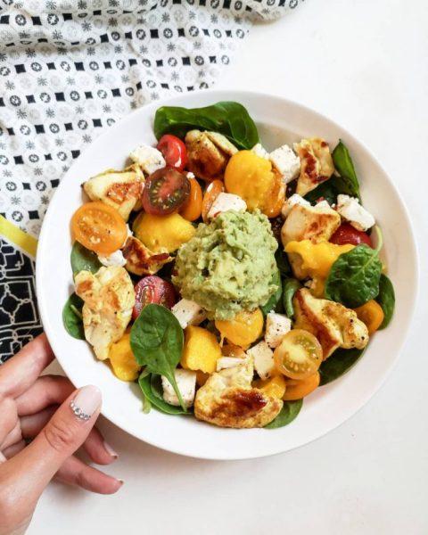 Salade de mangue, poulet curry & guacamole - Salades Originales - Ma Healthy Tendency