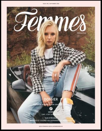 Couverture Femmes Magazine Luxembourg Septembre 2018