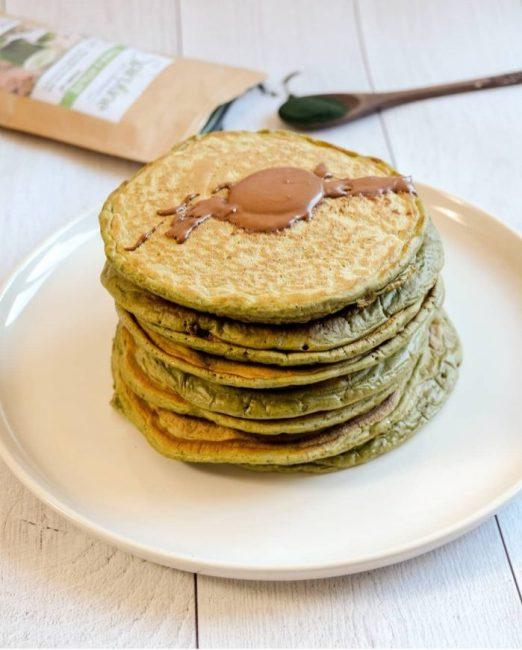 Pancakes à la Spiruline - Recette Mahealthytendency