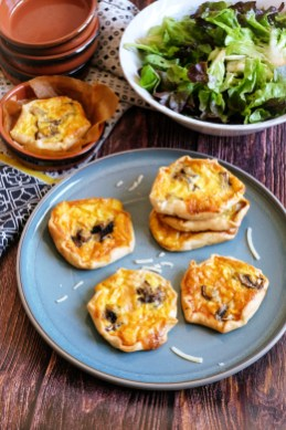 recette mini quiches parmesan champignons mahealthytendency