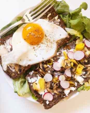 Toasts Poireaux Mahealthytendency
