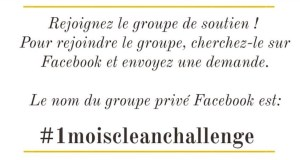 1 Mois Clean Challenge - Groupe Facebook )- Mahealthytendency