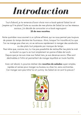 introduction mes 25 recettes de salad jar