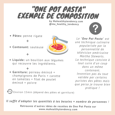 one pot pasta exemple de composition mahealthytendency