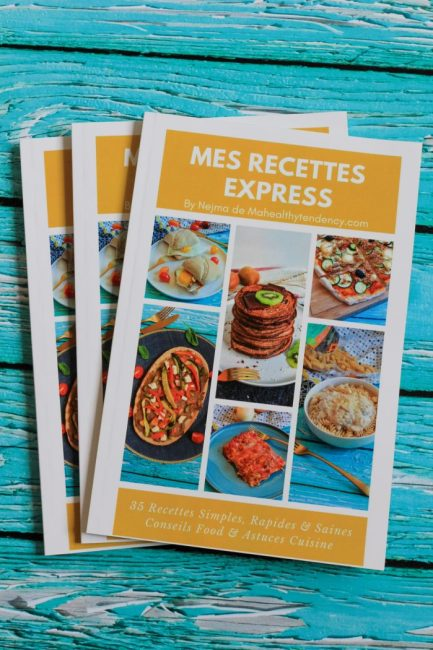 "Livre ""Mes Recettes Express"" - Mahealthytendency"