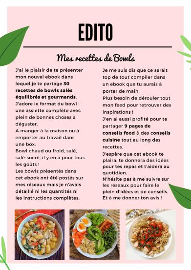edito mes recettes de bowls ebook