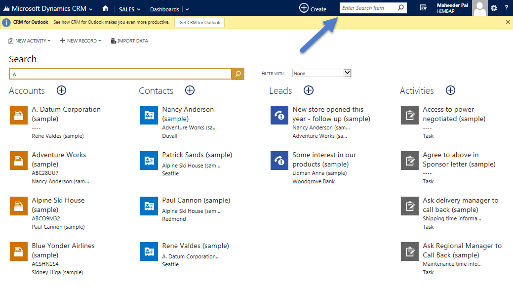 Global Search Is Finally Here In MS CRM 2015