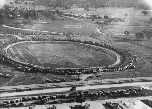 Fisher Park Cootamundra for the England v Riverina match of 1924? Source: Cootamundra Remembers on Facebook.