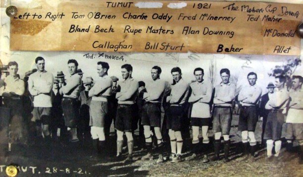 Ted Maher in Tumut team that played Mascot on 28 Sept 1921 he was probably in the Maher Cup team of the previous week