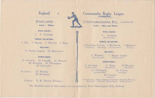 England v Cootamundra 1924. Source: Joe Willis via Cootamundra Remembers