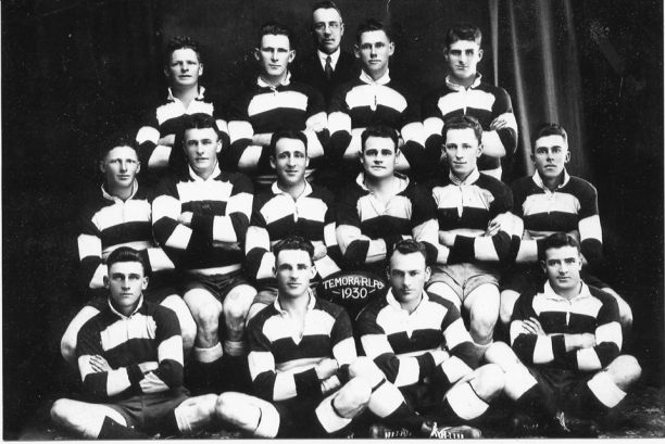 Temora 1931, Back - Eric Curren, Charlie Bray, Norman Bland, George King, Reg Maker Middle - Leo Curren, Horace Anthony, Eric Weissel, Norm Dundas, Alan Lynch, Bob Boyd Front - Joe Constable, Harold Thomas, Harry Owen, Jack Stephenson. Source: Temora Dragons Rugby League Club via Facebook.