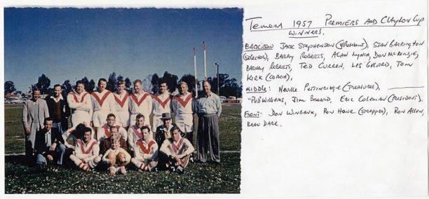 Temora team of 1957