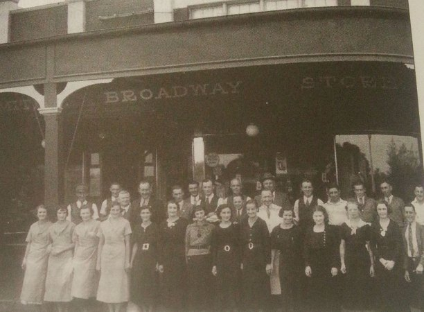 J.S. Taylor's staff in 1936. Herb Howard 4th at back from left.