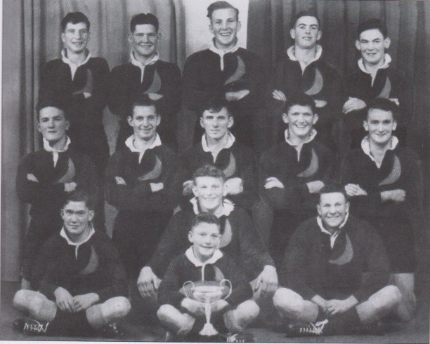 Ron in the Half Moons team of 1948 - middle row second from right