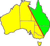 The Barassi Line as determined by Ian Turner. Source: Wikipedia