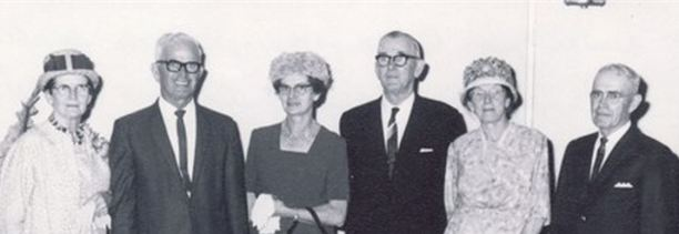 Six of the eleven children of Tim & Bridget Malone: Les, Nell, Lucy, Walter, Mary and Gus.