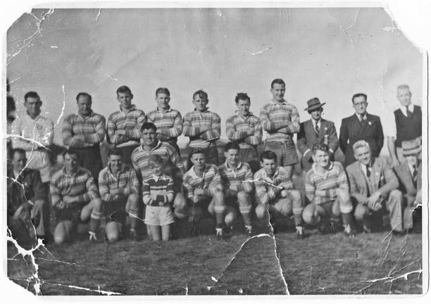 A 1949 Cootamundra team with: Back from left - Jack 'Onion' Bell, Lionel Wheatley, Keith Tull, John Gillette, Roley McDonnell, Mick Howse, Bill Baker, Jack Malone: Front - Harold Fuller, Jim Crowe, Jack Schofield, Jack 'Duck' Walsh (ballboy unknown), Kevin Wheatley, Jack 'Junior' Henniker, Noel 'Popeye' Crowe, Ken Mulrooney, Ray Ward, Les Wood