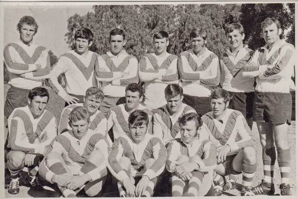 Cootamundra Maher Cup team that defeated Temora 2 May 1970: Back from left - Ron Shergold, Brian Wilson, Peter Lawson, John Kennedy, George Dease, David Cook, Tony Hardwick: Centre - Tony Galton, Bob Wilson, Barry Black (captain-coach), Len Johns, Billy Millar: Front - Dennis O'Brien, Col Powell, Doug Luck.