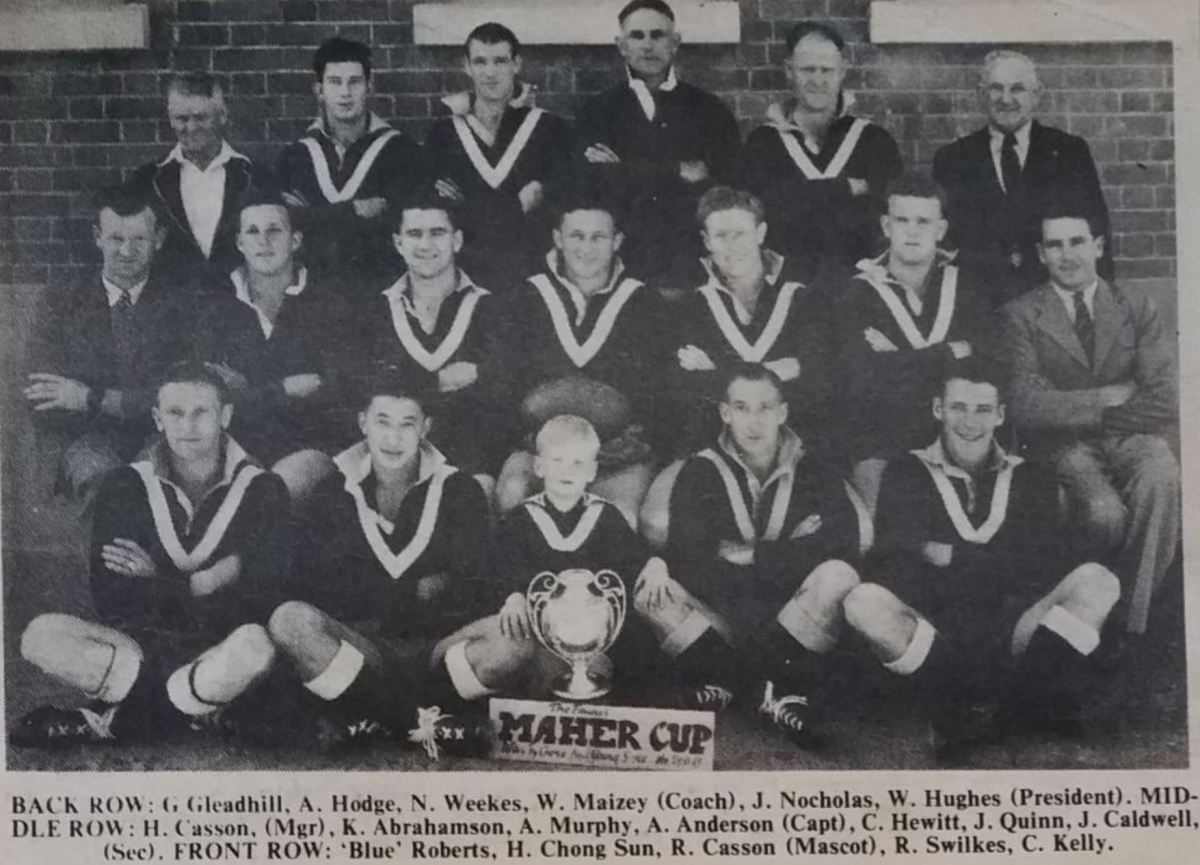 The Cowra Maher Cup winning team of 1945