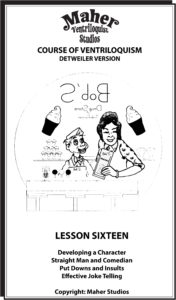 Maher Course of Ventriloquism Lesson 16