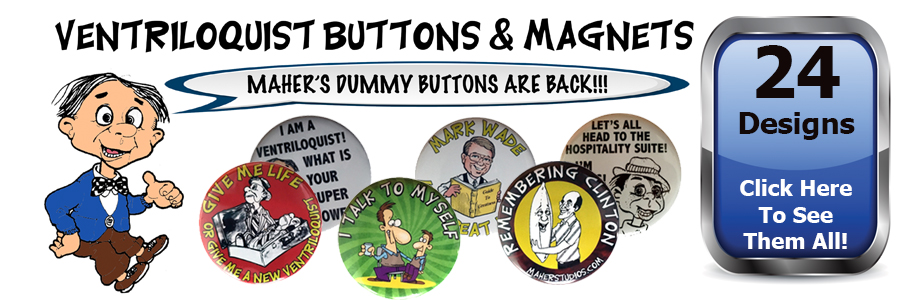 dummy buttons - ventriloquist buttons and magnets